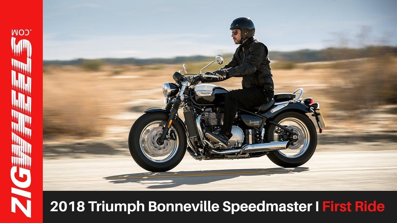 2018 Triumph Bonneville Speedmaster I First Ride I Zigwheelscom