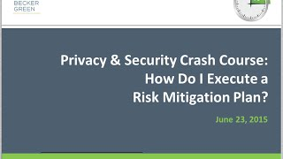 How Do I Execute a Risk Mitigation Plan? - Privacy & Security Crash Course