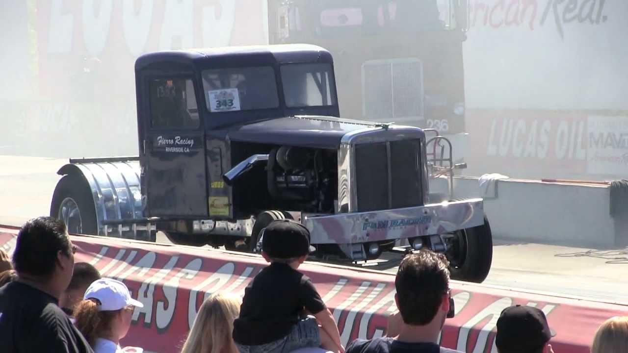 Fierro's Diesel Repair Twin-Turbo 8V92 Powered Peterbilt At Truckin' For  Kids 2013