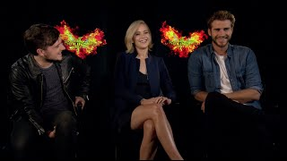HUNGER GAMES MOCKINGJAY PART 2 Interviews - Lawrence, Hutcherson, Hemsworth, Sutherland, Dormer