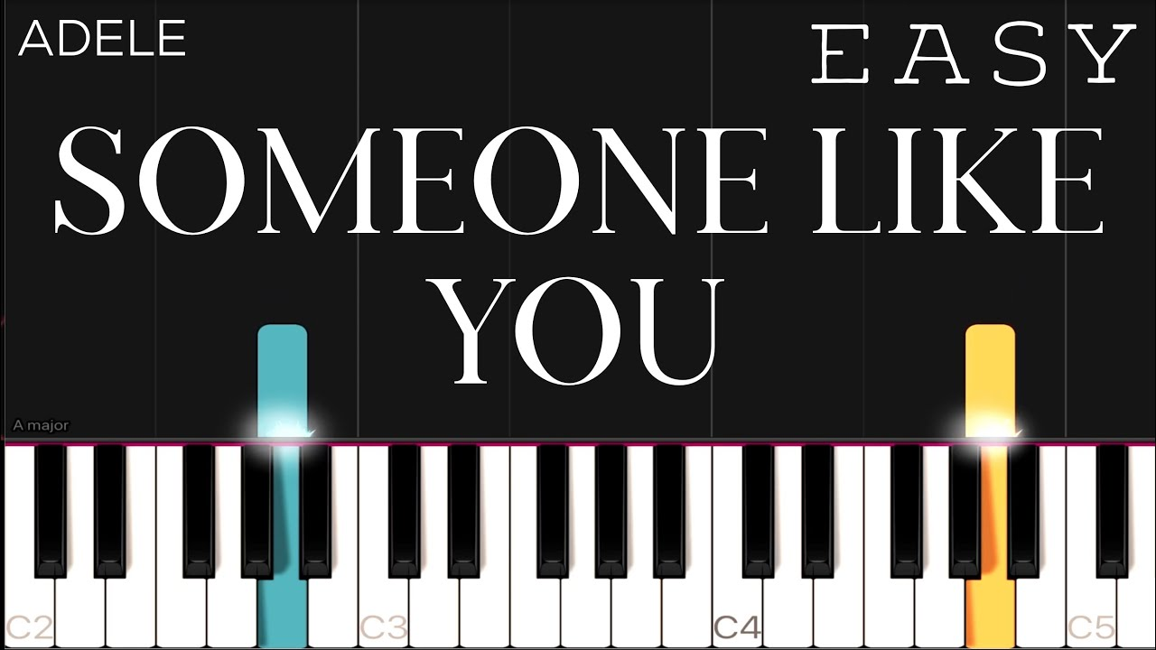 Adele   Someone Like You   EASY Piano Tutorial