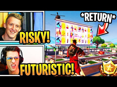 "Streamers React to NEW *FUTURISTIC* ""Risky Reels""!!! (RETURN to FORTNITE)"