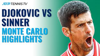 Novak Djokovic vs Jannik Sinner | Monte Carlo 2021 Highlights