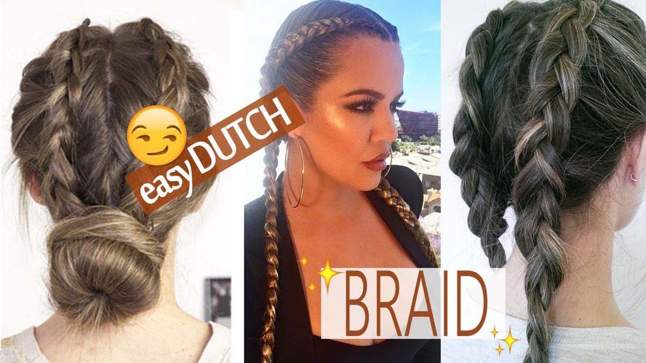 Khloe Kardashian Inspired Braid 3 Easy Dutch Braid Hairstyles