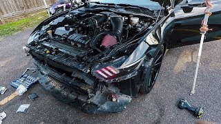 Building my Mustang to 850hp in my PARKING LOT!! (IT