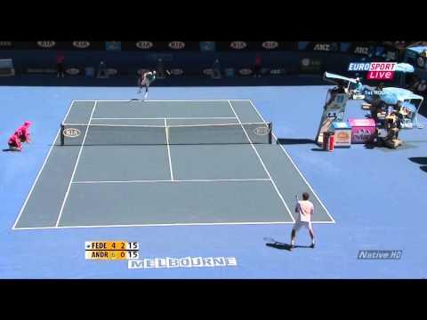 Federer vs. Andreev  Australian Open 2010 HD