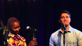 Cynthia Erivo and Dean John-Wilson sing 'Free' at the Hippodrome on September 12th, 2015