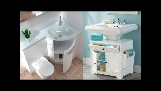 Идеи для хранения ванной комнаты - мебель для хранения полотенец 2019