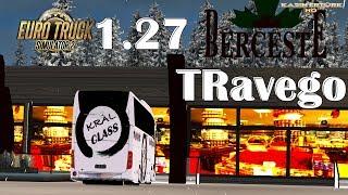 ETS2-TRAVEGO 2016 KRAL SEYAHAT CLASS 1.27 KIŞ MODU KAR YAĞIŞLI SEFER