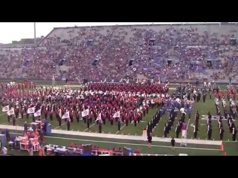 Marching Jayhawks halftime show September 20, 2014. 67th Annual KU Band Day