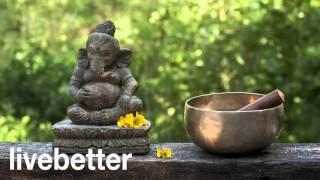 水の音睡眠、マッサージ、瞑想、調和環境とチベットのボウル