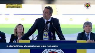 Başkanımız Ali Koç'un Kulübümüzün Olağan Mali Genel Kurul Toplantısı'nda Yaptığı Konuşma