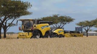 Western Australia Harvest 2017 - Two New Holland CR10.90 + Ballenpresse - FS17