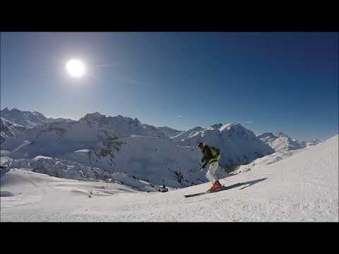 we love to ski, short and long dinamic turns