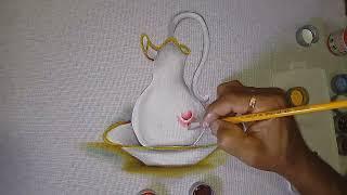 Roberto Ferreira – Aprenda a pintar Jarra de Porcelana e acabamento Gestual