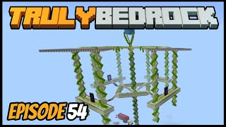 Sky Base Upgrades And Turd Shenanigans! - Truly Bedrock (Minecraft Survival Let's Play) Episode 54