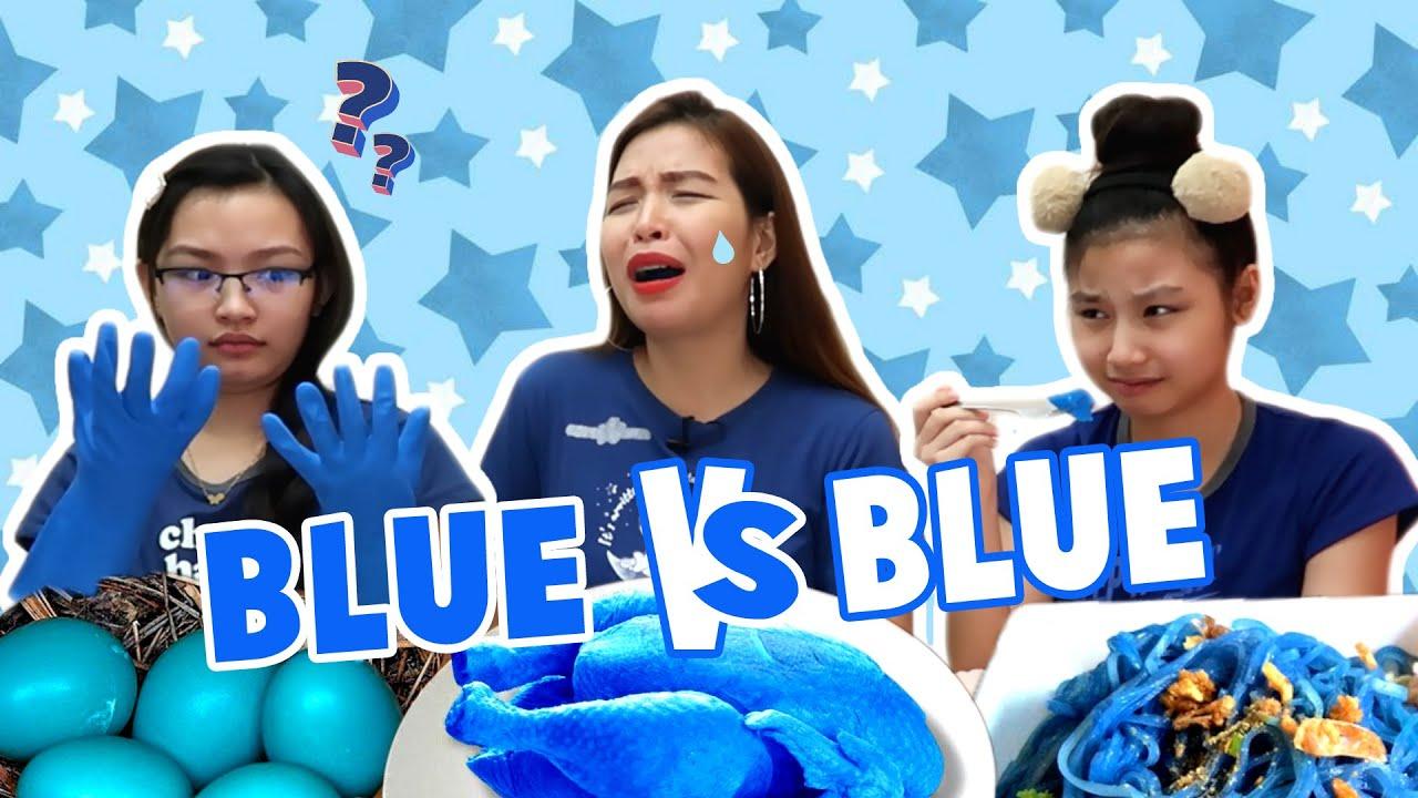 MYSTERY BLUE FOOD VS BLUE FOOLS SWITCH UP CHALLENGE | GOODBYE APRIL LAST FOOL PRANK | Aurea & Alexa