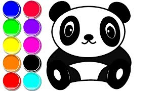 How to Draw a PANDA | Drawing and Coloring a PANDA for Toddlers and Kids