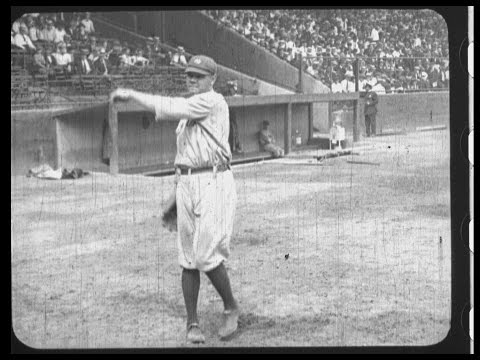 BABE RUTH AND THE YANKEES - OLD TIME BASEBALL FILM - Early film reel in three parts