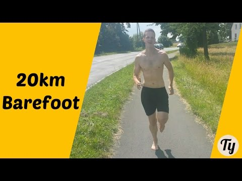20km Barefoot Run on Concrete