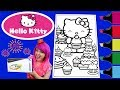 Coloring Hello Kitty GIANT Crayola Coloring Book Page Colored Markers Prismacolor | KiMMi THE CLOWN