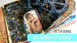 Journal Flip Through + Process Video ~ Use It Up Art Journal ~ PART 1