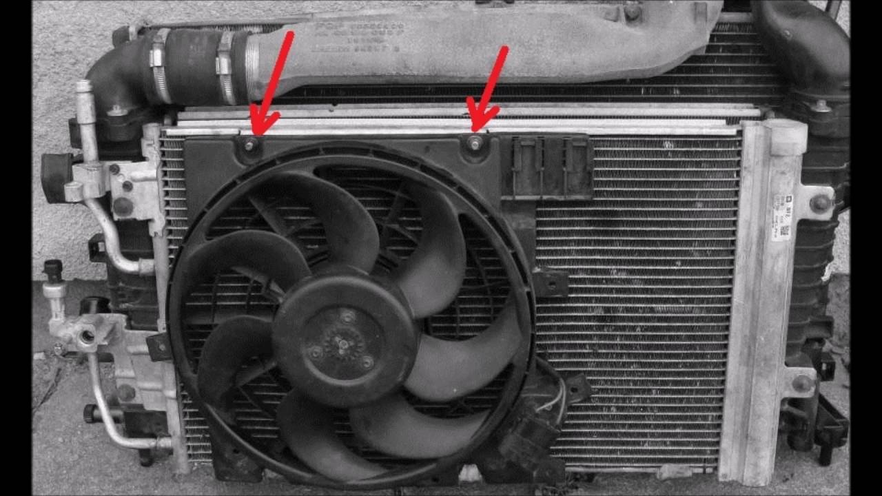 hight resolution of how to remove replace ac condenser radiator opel zafira astra vauxhall youtube