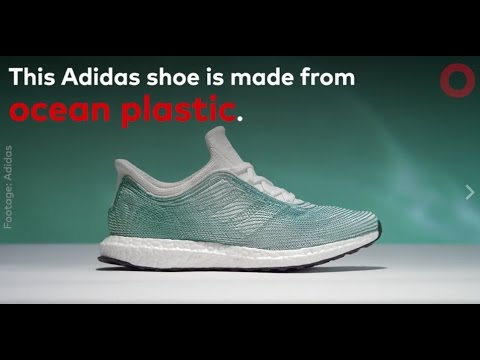 ec63a40672e This Adidas Shoe Is Made From Ocean Plastic - YouTube