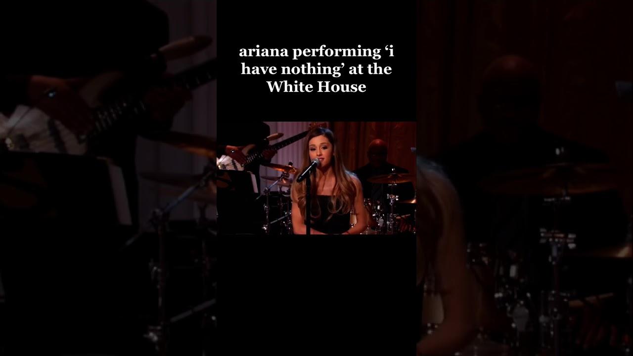 Ariana Grande Performing In The White House tiktok youraridream