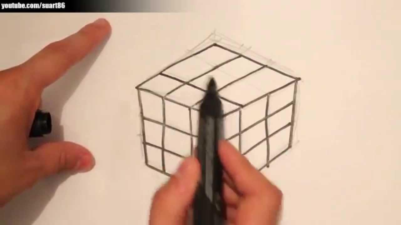 Como Dibujar Un Cubo Paso A Paso Youtube