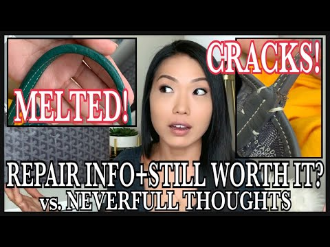 GOYARD ST. LOUIS MELTED STRAPS, CRACKS, HOLES | Repair Prices & Thoughts: Neverfull? | GINALVOE