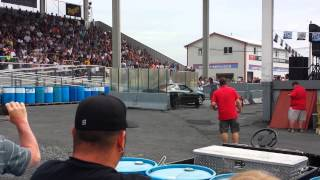 2 Camaro burnouts at 2014 GM nationals Carlisle pa
