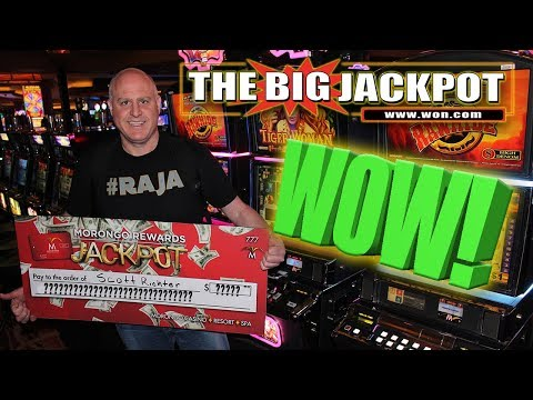 WOW! RAJA RECEIVES A BIG CHECK FOR A BIG HANDPAY! 🐯TIGER WOMAN WIN! | The Big Jackpot