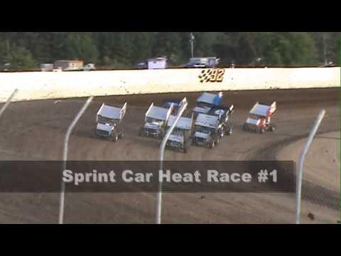 FLASHBACK FRIDAY, Grays Harbor Raceway, July 4, 2009, Sprint Car Heat Races 1 and 2