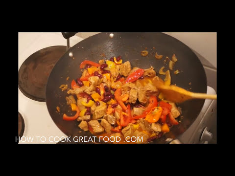Easy Pork Recipe - Pork Spicy Stew - How To Cook Pork Stew - Spicy Pork - Pork & Beans