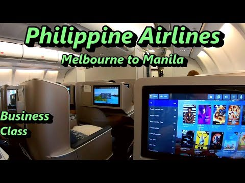 Melbourne To Manila, Philippine Airlines PAL, Business Class Review, Flight Time