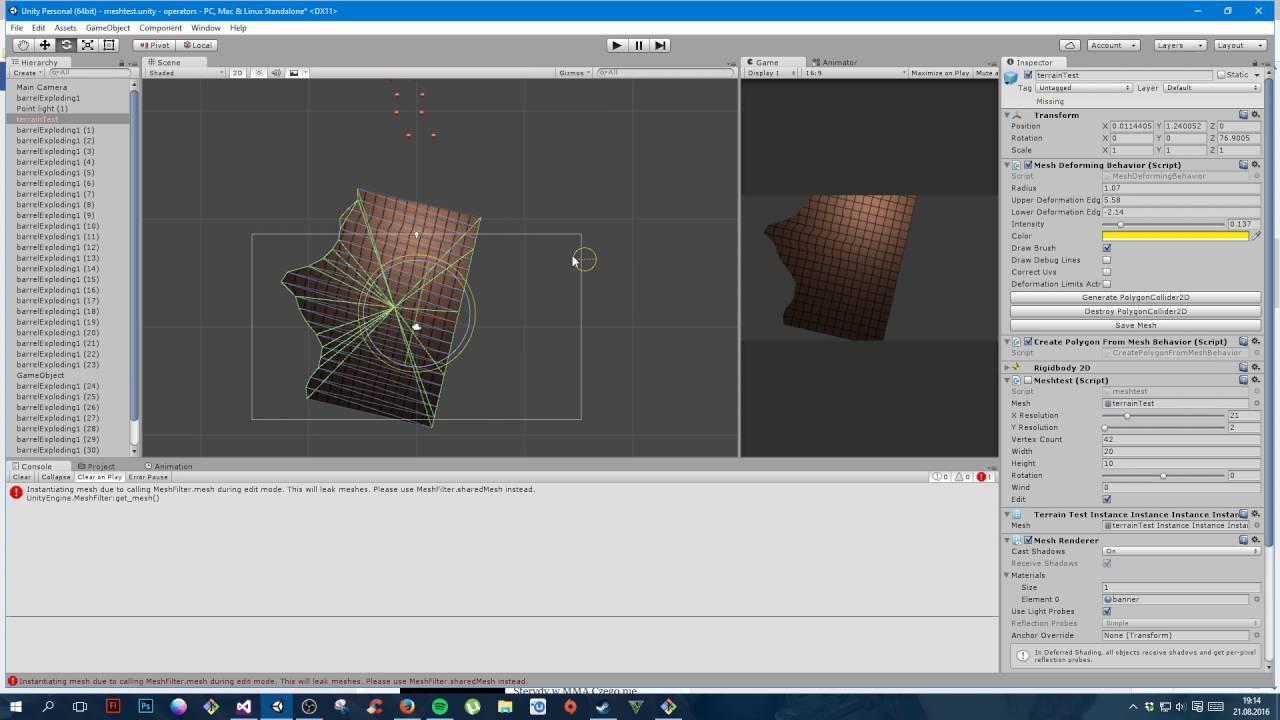 Unity script polygon2d generation by setting points (auto) vs set path  (manual)
