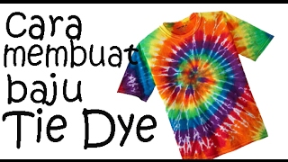 Cara membuat baju Tie Dye pelangi - Centered Rainbow Spiral tutorial