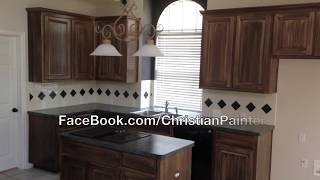 Re-Stain, Shade, Glaze Kitchen Cabinets and Clear Coat