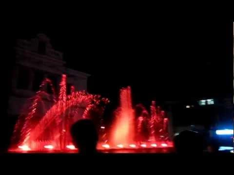 Beautiful fountains singing Romania-Pitesti