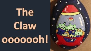 Time Lapse Rock Painting: The Claw | Toy Story Claw Machine Aliens | Rock Painting Ideas