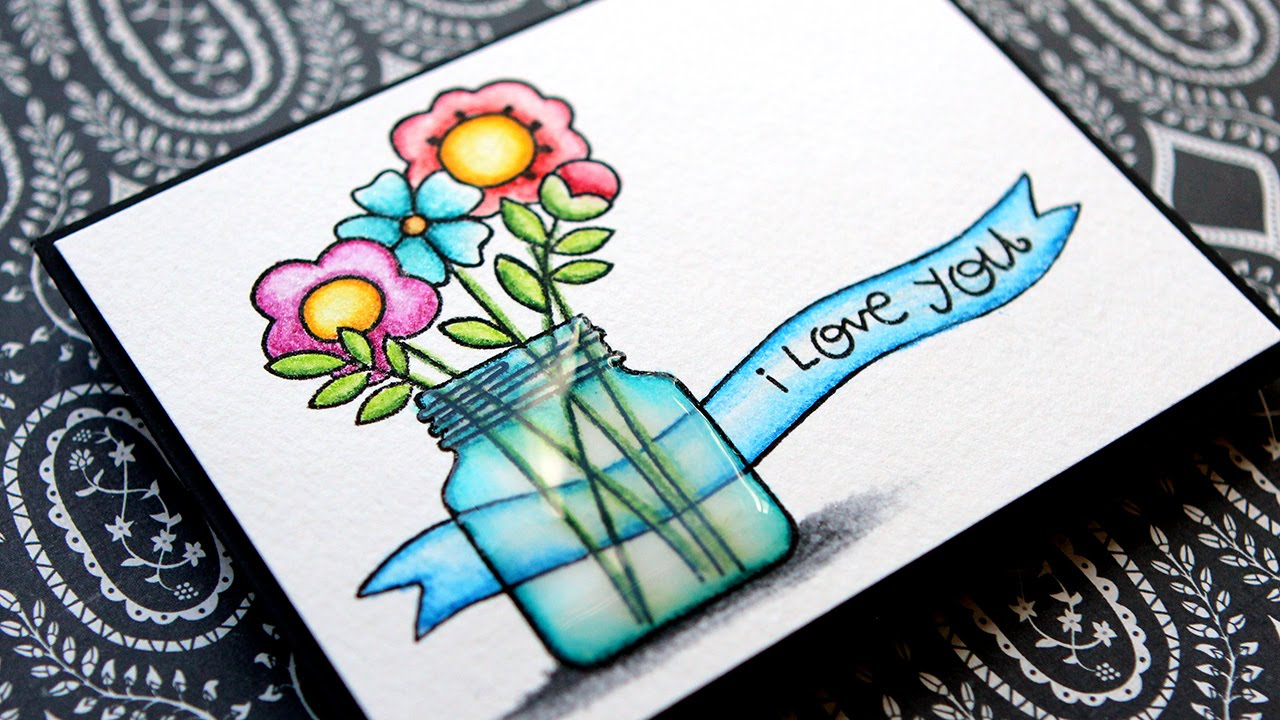 Simple Coloring with Inktense Pencils & Clear Wink of Stella - YouTube