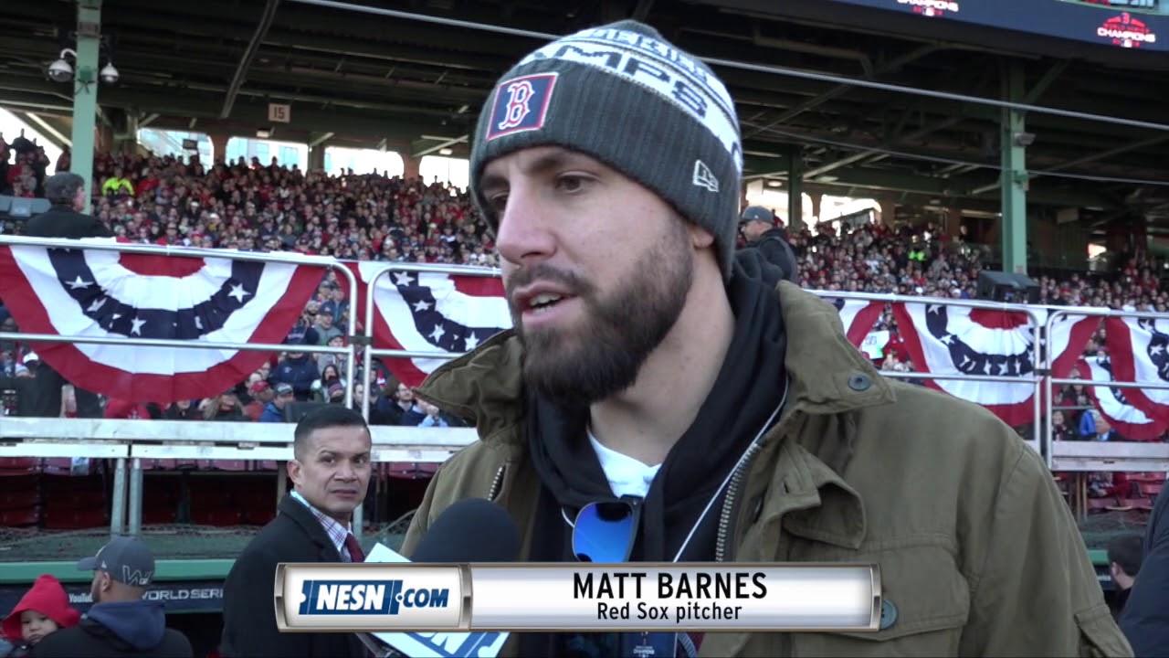 32d2642fb8d94f Matt Barnes ahead of Red Sox 2018 World Series victory parade - YouTube