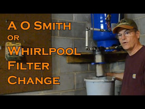 How To change the water filter cartridge in a A O Smith Filter