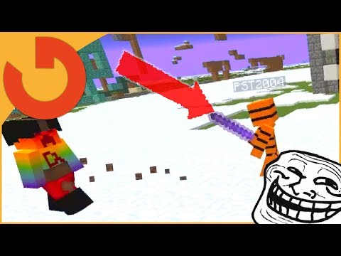 GIVING PVP HACKER KNOCKBACK 10000 STICK! (Owner Catching Hackers)