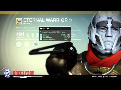 Destiny Eternal Warrior Exotic Titan Helmet Breakdown