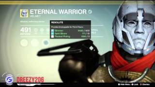 Destiny Eternal Warrior Exotic Titan Helmet Breakdown