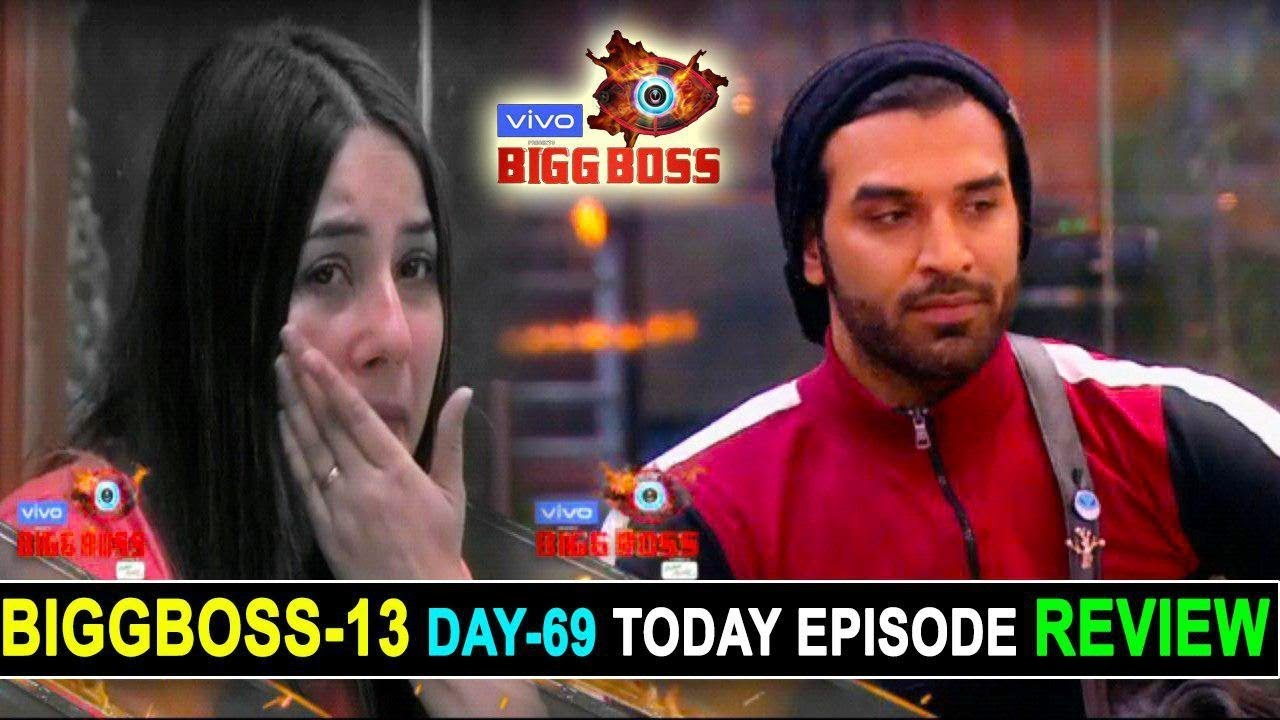 Biggboss 13 Day 68 Today Episode Review Paras Chhabra Evicted By Biggboss Crying Shehnaz For Sid