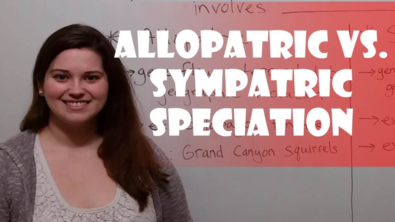 Allopatric Vs  Sympatric Speciation