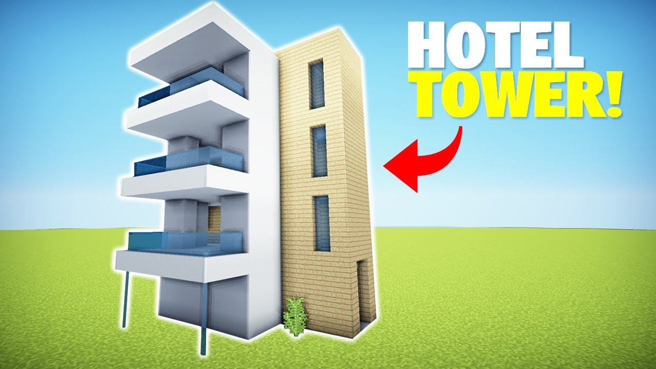 Minecraft: How To Build A Modern Hotel/Apartment Tower #1